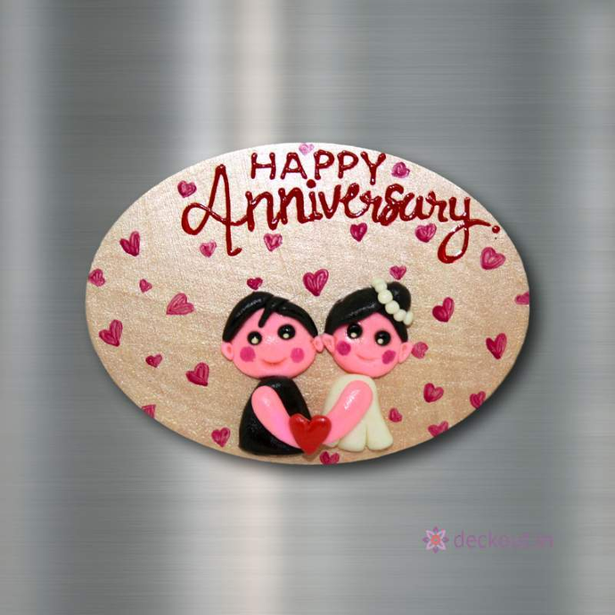 Happy Anniversary - Fridge Magnet-Fridge Magnet-deckout.in