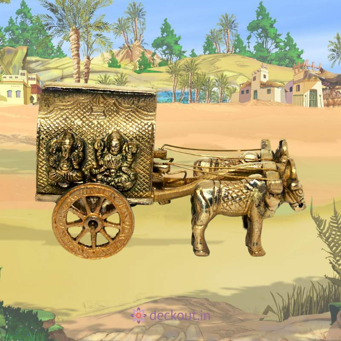 Brass Bullock Cart-deckout.in