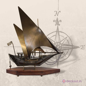 Brown Brass Ship - deckout.in
