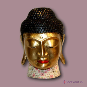 Buddha (Head Figurine)-deckout.in