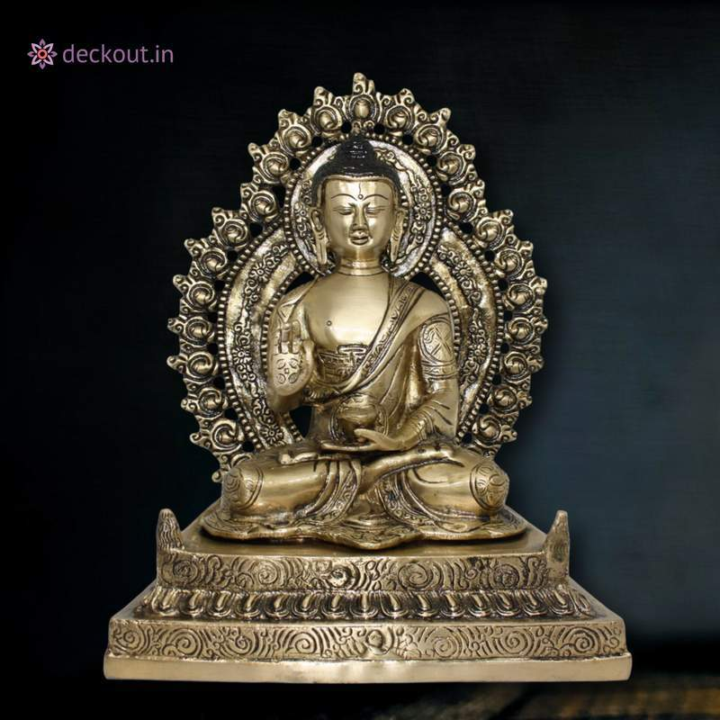 Golden Brass Buddha - deckout.in