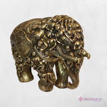 Carved Brass Elephant - deckout.in