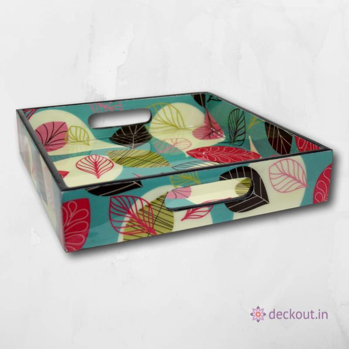 Cherry Leaf Tray - Square - deckout.in