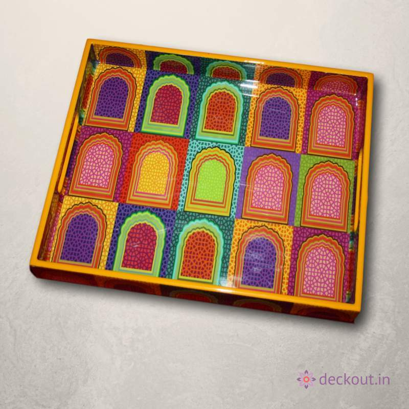 Colour Blast Snack Tray-deckout.in