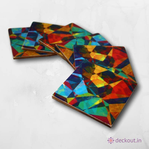 Colourama Coasters - Set of 6 - deckout.in