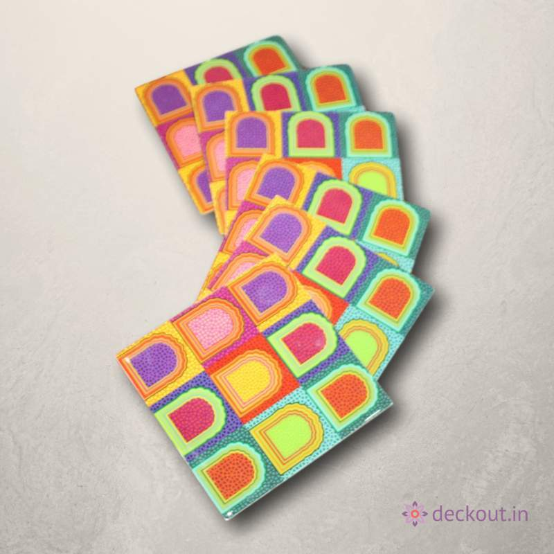 Colour Blast Coasters - Set of 6 - deckout.in