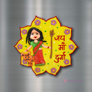 Durga - Fridge Magnet-Fridge Magnet-deckout.in