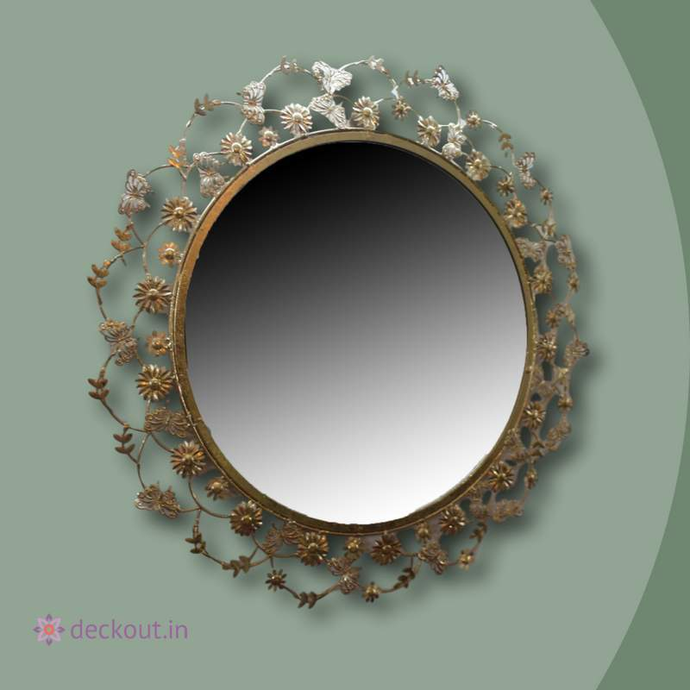 Floral Ring Mirror-deckout.in
