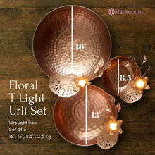 Floral T-Light Urli Set-deckout.in