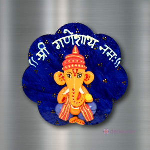 Ganesha Blue - Fridge Magnet-Fridge Magnet-deckout.in