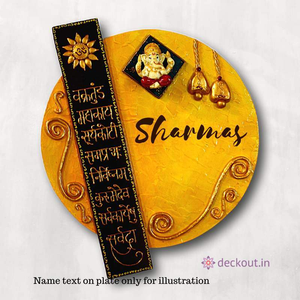 Ganesha Circular Name Plate-Name Plate-deckout.in