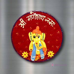 Ganesha Red - Fridge Magnet-Fridge Magnet-deckout.in