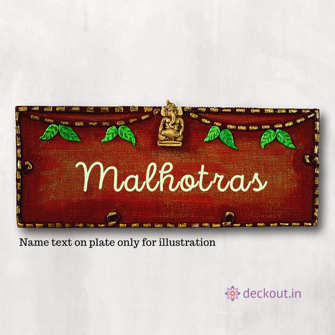 Ganesha Jute Name Plate-Name Plate-deckout.in