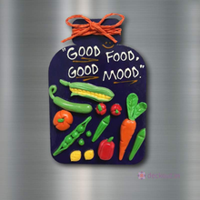 Good Food Good Mood - Fridge Magnet-Fridge Magnet-deckout.in