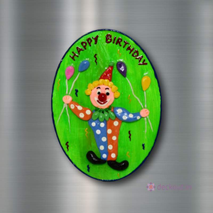 Happy Birthday (Green) - Fridge Magnet-Fridge Magnet-deckout.in