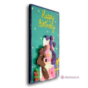 Birthday Teddies - Fridge Magnet-Fridge Magnet-deckout.in