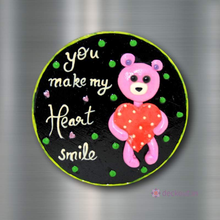 Heart Smile Teddy - Fridge Magnet-Fridge Magnet-deckout.in