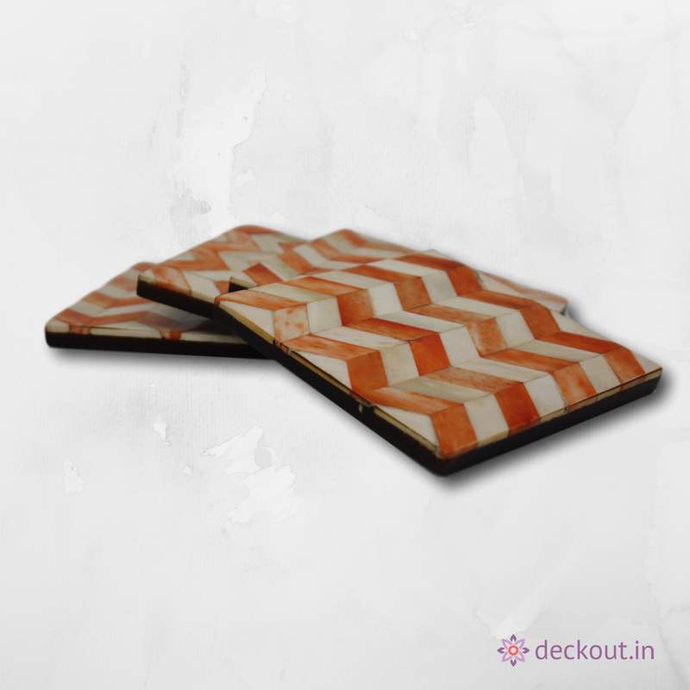 Horn Coasters - Set of 4 - deckout.in