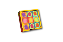 Colour Blast Coasters - Set of 6-deckout.in