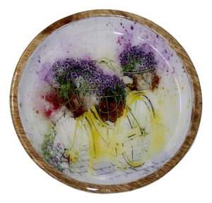 Wooden Wall Plates - Set of 5 - deckout.in