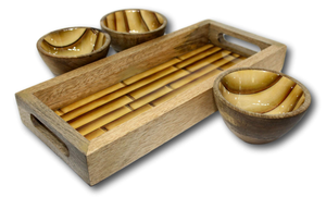Serve N Snack Set - Bamboo Pattern-deckout.in