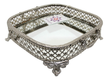 Silver Finish Metal Tray-deckout.in