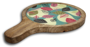Mango Wood Laminated Circular Patters - deckout.in
