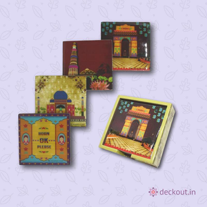 India Coasters - Set of 4 - deckout.in