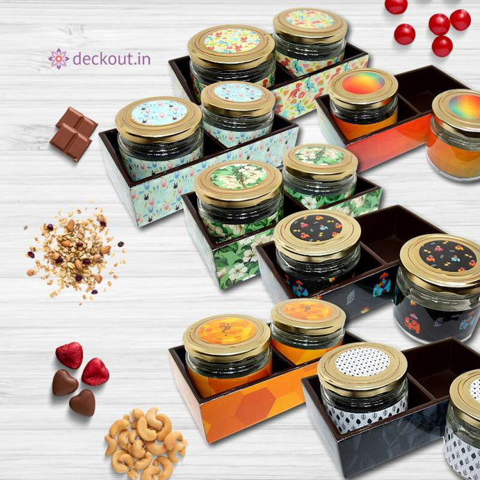 Multipurpose Jars & Tray-Tray Set-deckout.in