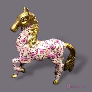 Laminated Brass Horse-deckout.in