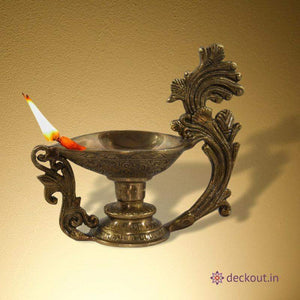 Large Brass Diya-deckout.in