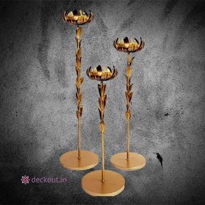 Lotus Lamp Stand-T-Light Stand-deckout.in