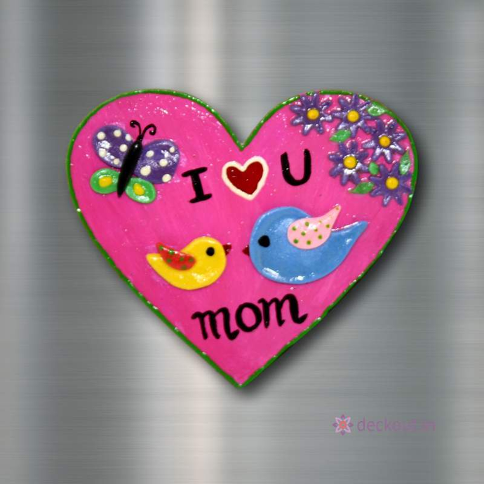 Love You Mom - Fridge Magnet-Fridge Magnet-deckout.in