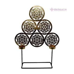 Mandala 3 T-Light Lamp-Candlestand-deckout.in