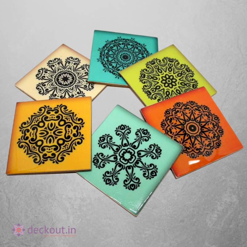 Mandala Coasters - Set of 6-deckout.in