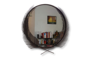 Brown Ferns Mirror - deckout.in