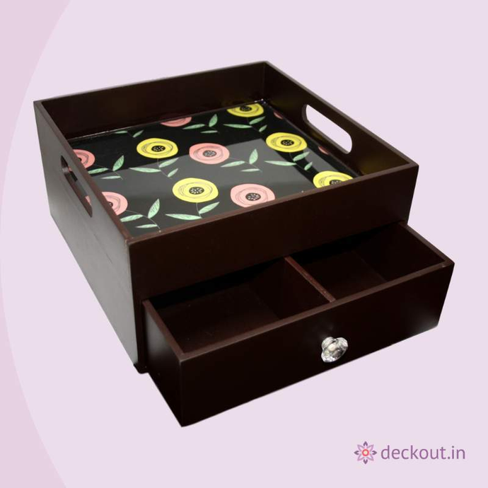 Flowers Multi-purpose Organiser - deckout.in