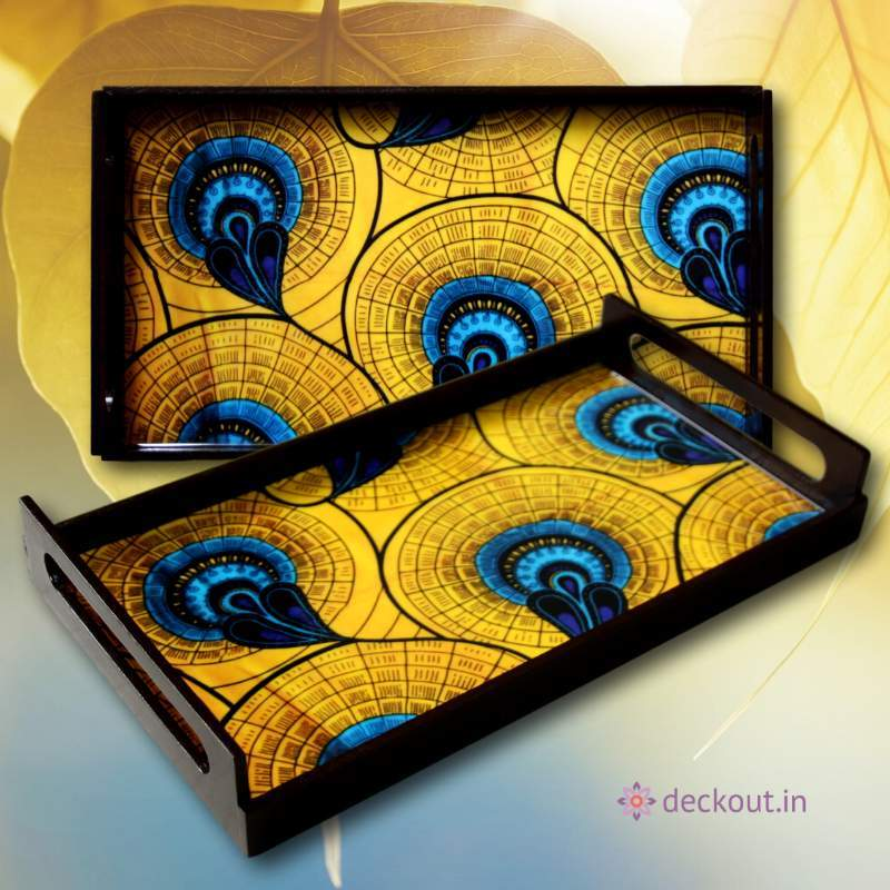 Peacock Party Serving Tray-deckout.in