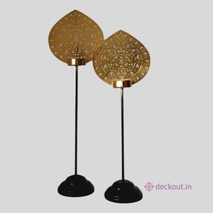 Peacock Pair Lamp Stands-Candlestand-deckout.in