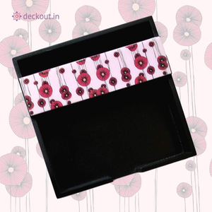 Paper Napkin Holder - Pink Poppy-deckout.in