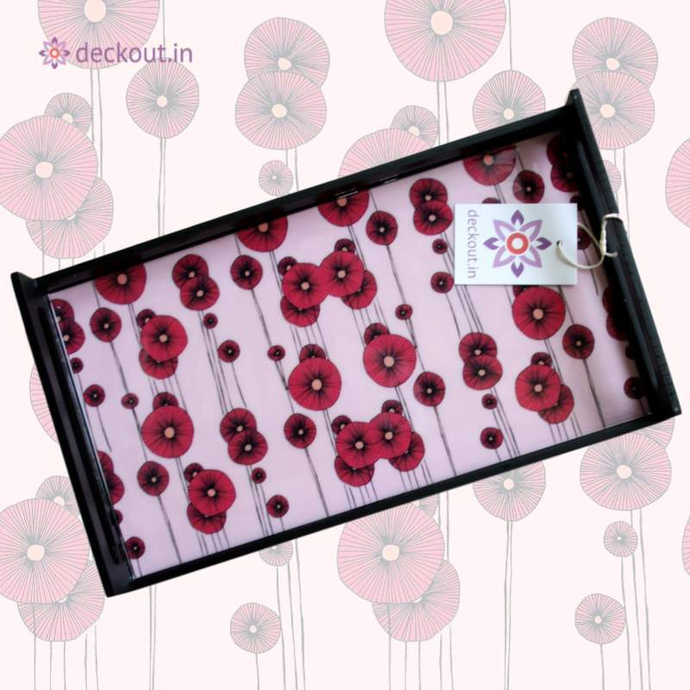 Pink Poppy Tray-deckout.in