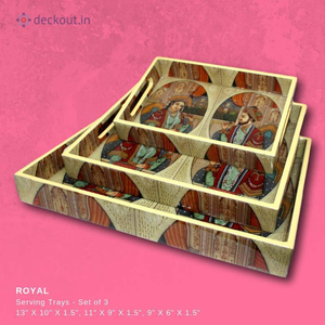 Royal Snack Tray - Set of 3 - deckout.in