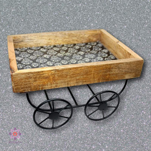 Mango Wood Serving Cart-deckout.in