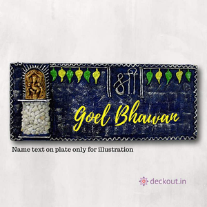 Shri Ganesh Name Plate-Name Plate-deckout.in