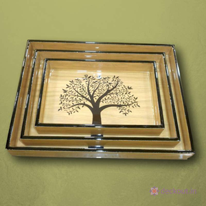 Lone Tree Serving Tray Set-deckout.in