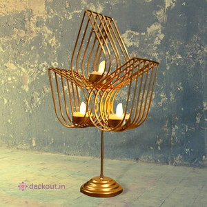 Standing 3 Leaf T Light Lamp - deckout.in