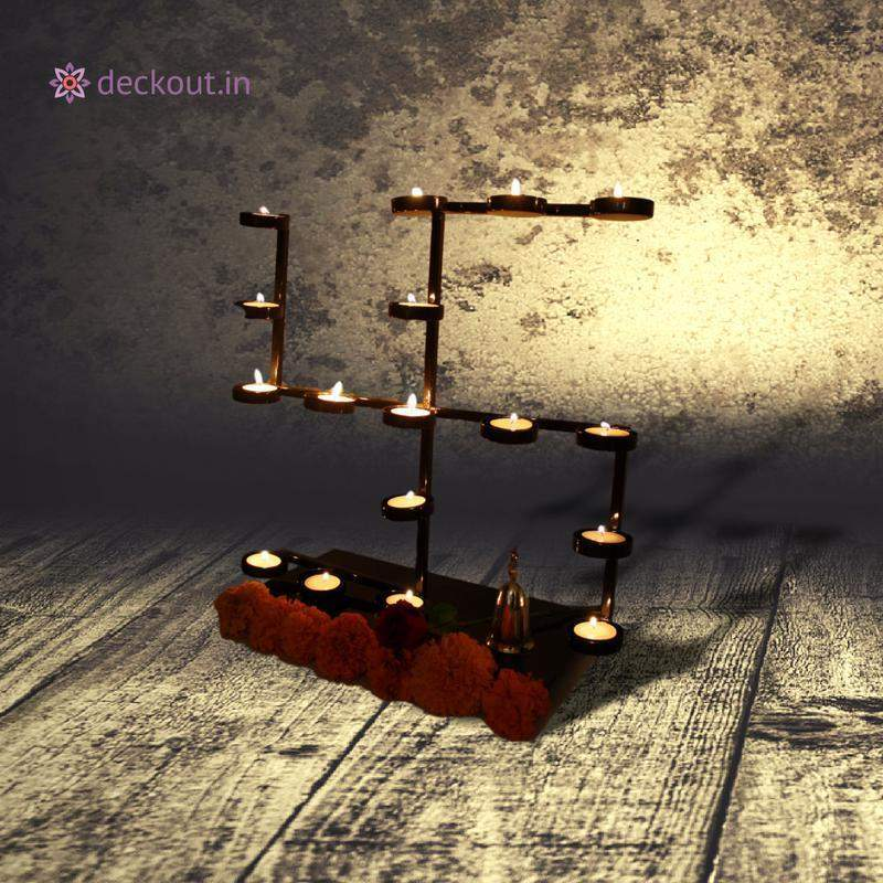 Swastika Candle Stand-deckout.in