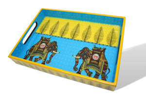 Royal Elephant Snack Tray - Set of 3 - deckout.in