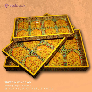 Trees N Windows Trays - Set of 3 - deckout.in