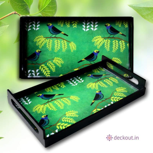 Bird & Garden Serving Tray-deckout.in